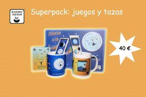 superpack juegos y tazas